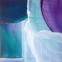 Weiß, Violett, Blau, Abstrakt
