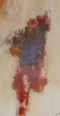 Terrakotta, Beige, Informel, Abstrakt