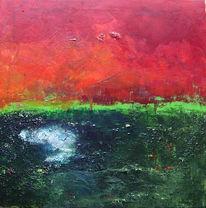 Grün, Abstrakt, Informel, Acrylmalerei