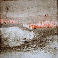 Rot schwarz, Abstrakt, Malerei, Landschaft
