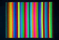 Schwarz, Neon, Bunt, Abstrakt