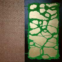 Grün, Bronze, Gold, Malerei
