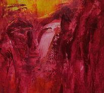 Gelb, Gesicht, Rot, Malerei