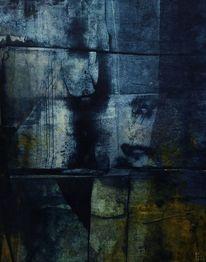 Malerei, Dunkel, Mond