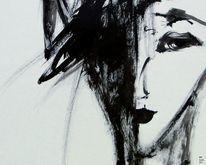 Portrait, Schatten, Noir, Blick
