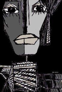 Mund, Augen, Maske, Grafik