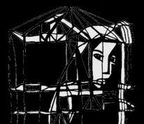 Schwarzweiß, Gitter, Gefangen, Zeichnungen
