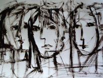 Malerei, Nehmen, Gestalt, Rücken