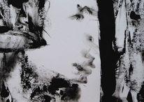 Schwarzweiß, Augen, Film noir, Gesicht