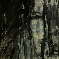 Schatten, Schweigen, Gesicht, Dunkel