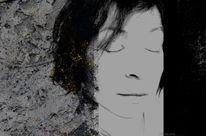 Lyrik, Traum, Gesicht, Mischtechnik