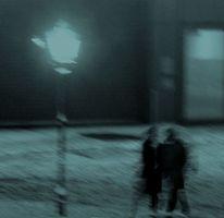 Schnee, Winter, Laterne, Menschen