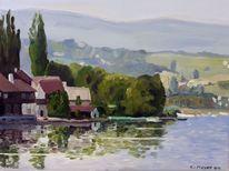 Sommer, Idylle, Bodensee, Spiegelung