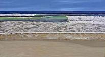 Meer, Strand, Wasser sonne, Welle