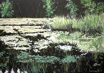 Wasser, Ruhe, Idylle, Natur grün