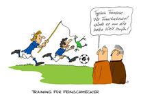 Cartoon, Frankreich, Fußball, Football