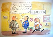 Cartoon, Rauchverbot, Karikatur, Rauchen