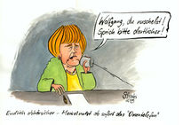 Angela merkel, Karikatur, Nsa, Cartoon
