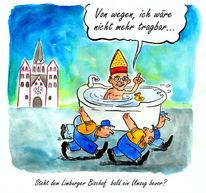 Bischof, Karikatur, Cartoon, Van elst kirche