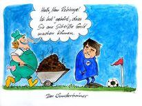 Rehhagel, Berlin, Fußball, Karikatur