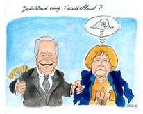 Gauck, Merkel, Cartoon, Karikatur