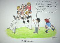 Karikatur, Cartoon, Em, Löw