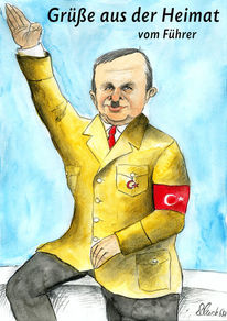 Karikatur, Türkei, Cartoon, Wahl