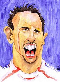 Frankreich, Ribery, Fußball, Zeichnungen