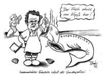Karikatur, Cartoon, Polizei, Zeichnungen