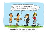 Cartoon, Karikatur, Fußball, Griechenland