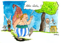 Russland, Putin, Cartoon, Depardieu