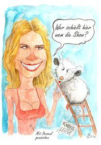 Heidi klum, Karikatur, Zeichnungen,