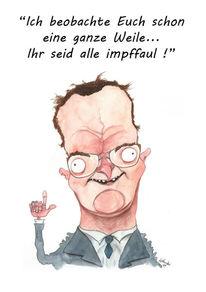 Deutschland, Karikatur, Corona, Humor