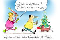 Lufthansa, Weihnachten, Zeichnungen,