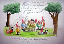 Nordkorea, Karikatur, Cartoon, Diktator