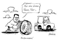 Kanzlerkandidat, Karikatur, Steinbrück, Merkel