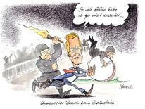 Berlin, Wulff, Bellevue, Cartoon