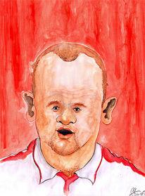 England, Fußball, Zeichnungen,