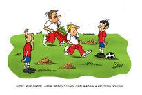 Serbien, Fußball, Zeichnungen, Cartoon
