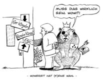 Karikatur, Wowereit, Cartoon, Künast