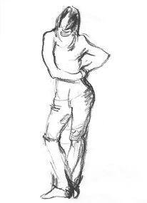 Figur zeichnen, Skizze, Kohlezeichnung, Menschen