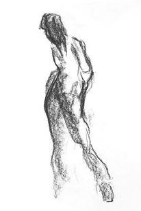 Menschen, Zeichnen, Figur zeichnen, Kohlezeichnung