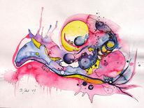 Abstrakt, Fantasie, Schnecke, Malerei