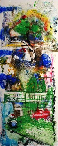 Tusche, Abstrakt, Natur, Aquarellmalerei
