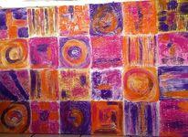 Strukturpaste, Bunt, Acrylmalerei, Malerei