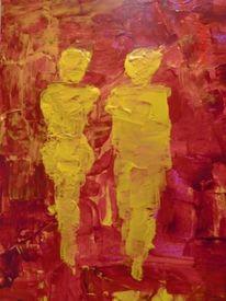 Gestalten1, Gelb, Malerei