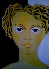Gelb, Haare, Schwarz, Malerei