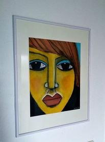 Pastellmalerei, Menschen, Schwarz, Zeichnungen