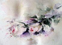 Pflanzen, Nass, Aquarellmalerei, Schicht