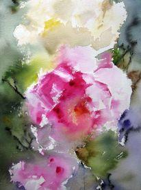 Pflanzen, Nass, Blumen, Aquarell